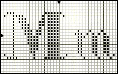 Possibly the most elegant filet alphabet I've seen yet.  Cross Stitching Alphabet Pattern Seasons