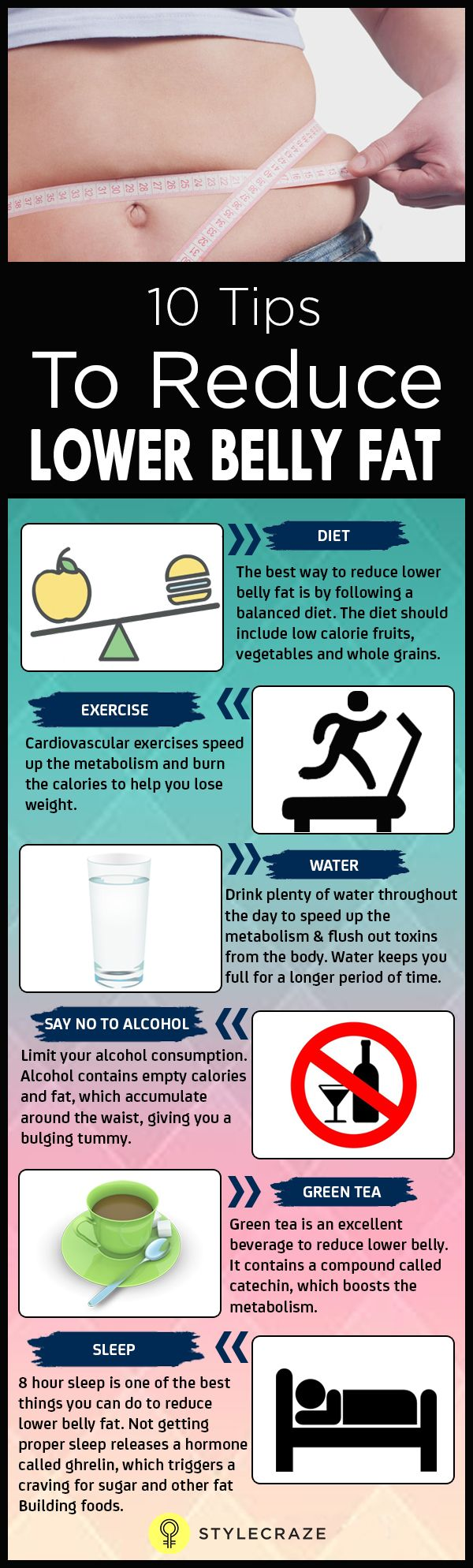 10 Simple Tips To Reduce Lower Belly Fat-The lower belly fat is one of the frustrating issues one can suffer with. Here are some simple ways on how to reduce belly fat which also need dedication