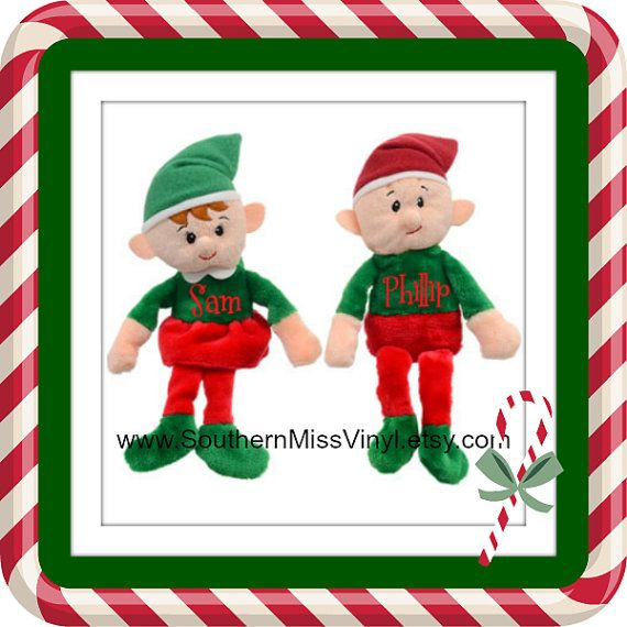 Custom Christmas Elf Plush Toy with name or by SouthernMissVinyl
