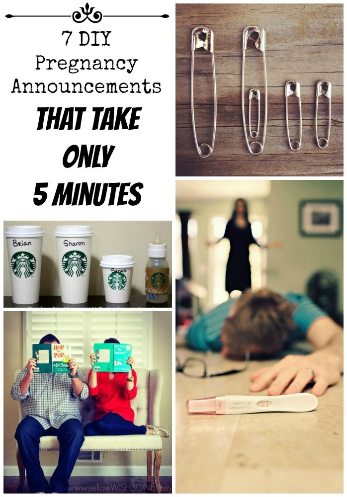 DIY pregnancy announcements can be quick! Check out our list of adorable pregnancy announcement ideas you can make in five minutes or less!