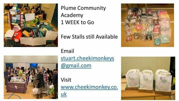 One week to go till Maldon BIG Baby and Children's Market email stuart.cheekimonkeys@gmail.com for details