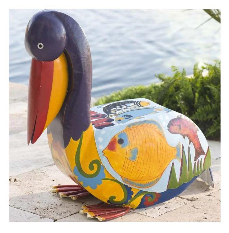 Colorful pelican | Yard sculptures, Sea birds, Metal ...