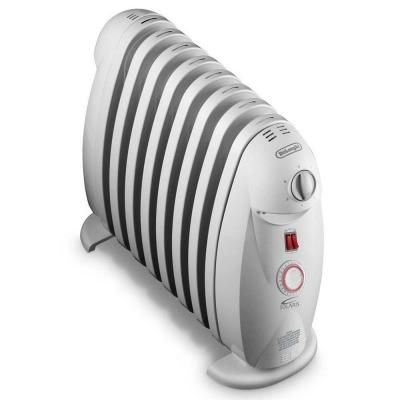 DeLonghi 1200-Watt 8-Fin Oil-Filled Radiant Portable Heater with Timer and GFCI Plug-TRN0812T - The Home Depot