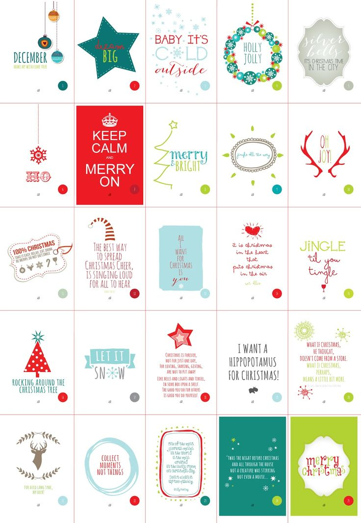 ☃FREE printable Christmas Cheer Advent Calendar / LostBumblebee: