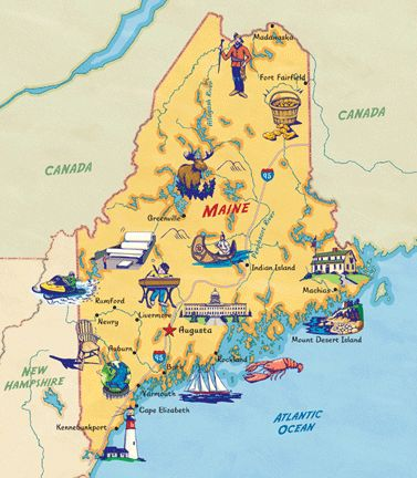 All of Maine! Why? This picture shows every place including the lumber roads…