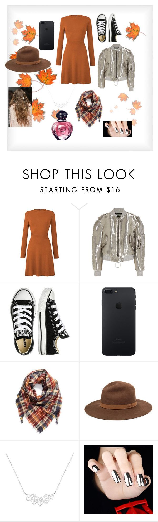 """""""Untitled #27"""" by directionereden ❤ liked on Polyvore featuring Off-White, Converse, BP., rag & bone, A Weathered Penny and Christian Dior"""
