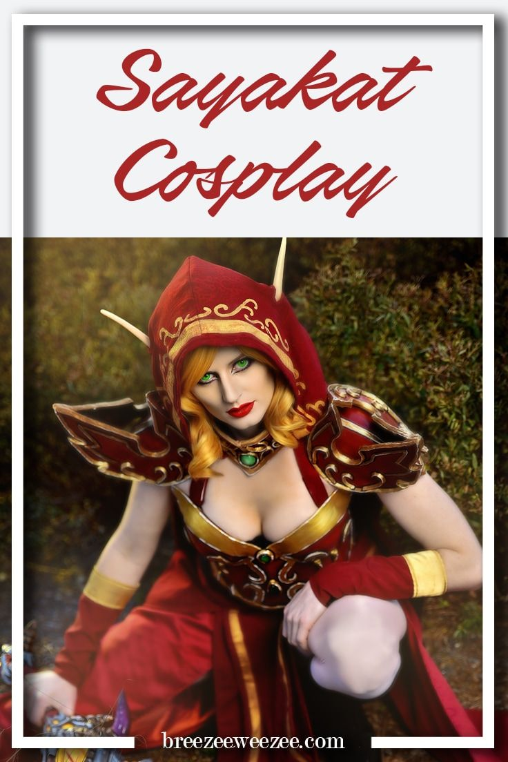 Breezeeweezee Cosplay Blog Feature Friday Interview with Sayakat cosplay featured as blood elf wow world of warcraft wrobla foam armor diy
