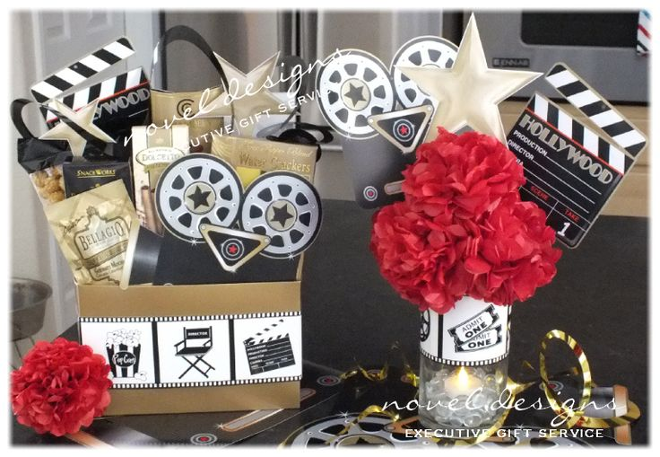 Hollywood Glam Corporate Event Gift Baskets & Centerpieces Las Vegas