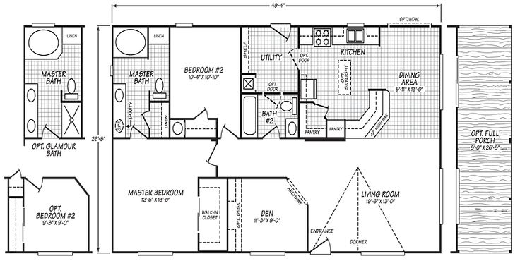 30 best images about mobile home floor plans on pinterest for House plans wa