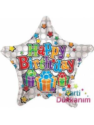 Happy Birthday  Big Dostwhite Folyo Balon 45 cm