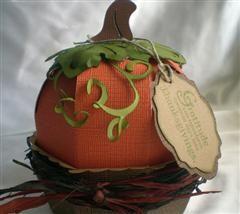 3D Thanksgiving Pumpkin from cricut sweet tooth boxes