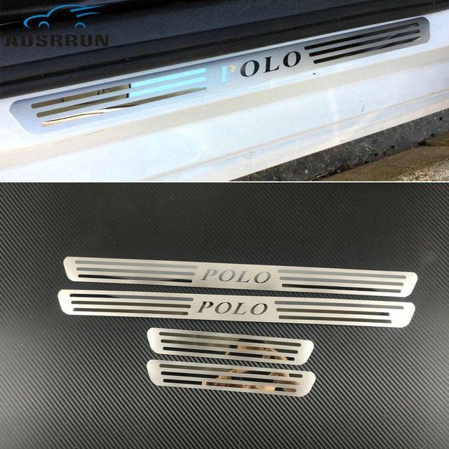4 Car Door Sill Scuff Plate Protector Trim Guard For Volkswagen Tiguan 2012-2017