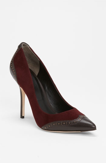 Be business mind chic with the @Rachel_Roy 'Ana' dark red/brown pumps $225, get it here: http://rstyle.me/~b9TX