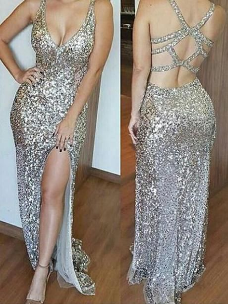 26fc5433581cb Chicloth Sheath Sequins V-Neck Sleeveless Sweep/Brush Train With  ,#promdressuk,#quinceaneradress,#champagne,#tulle,#lace,#cheap,#ballgown
