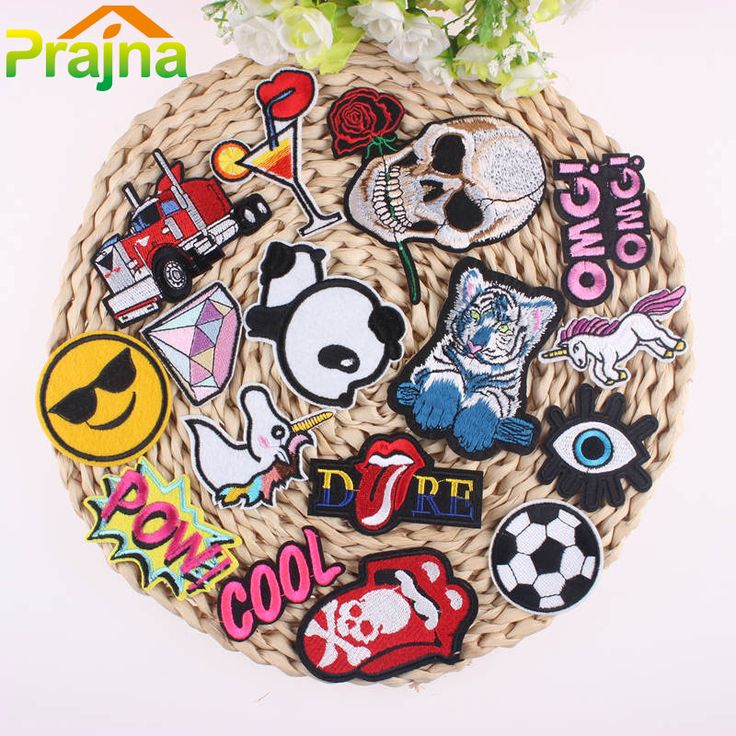 1Pcs Iron On Patches for Clothing Applique Eye Embroidery Patch Badges Stickers for Clothes Applicaties