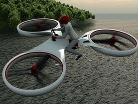 Flike: Ein-Mann-Tricopter könnte bald das Fliegen für jedermann ermöglichen