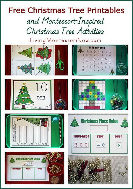At PreK + K Sharing, I show how I used the printables to prepare Montessori-inspired Christmas tree activities.