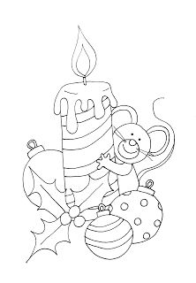 Free Dearie Dolls Digi Stamps: Christmas Candle