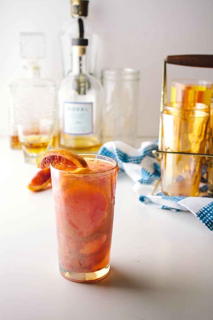 Blood Orange Smash - Whiskey, St. Germain, Blood Oranges, Sparkling Water.