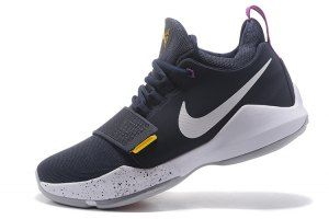 Men s Paul George Nike PG 1 The Bait Obsidian White Gold 878627 417  Basketball Shoes 774f332cbc