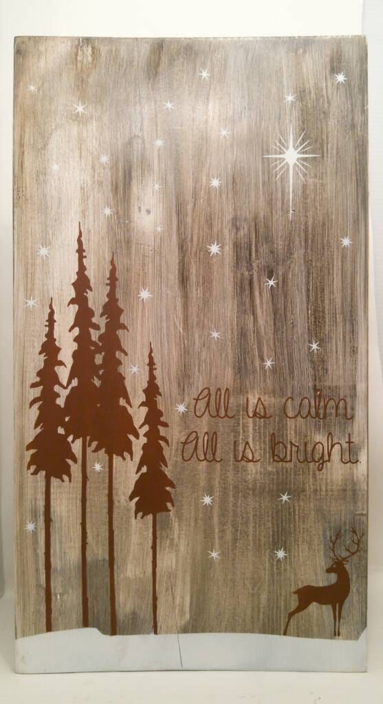 Rustic Holiday Sign Christmas Sign Rustic by ThePaintedSignCo