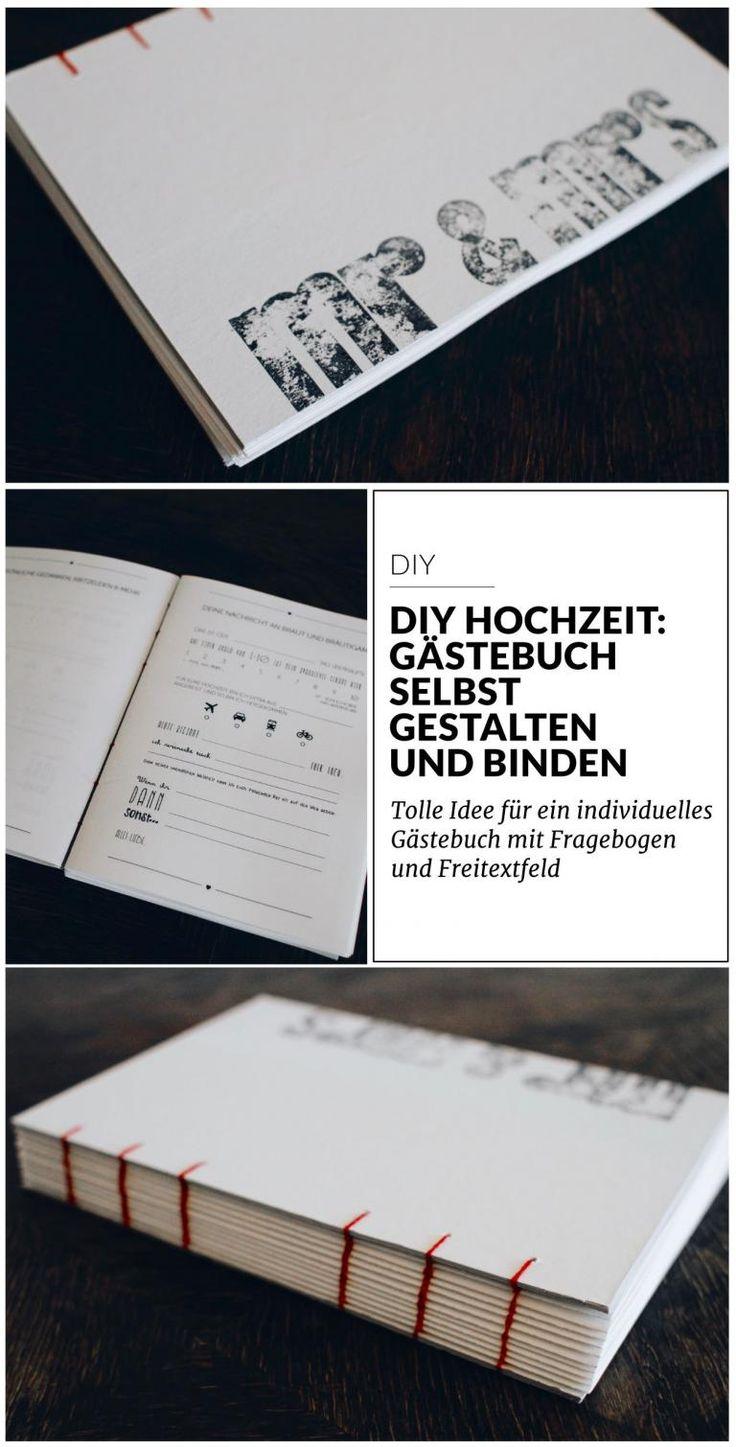 DIY Hochzeit: Gästebuch selbst gestalten und binden | paulsvera