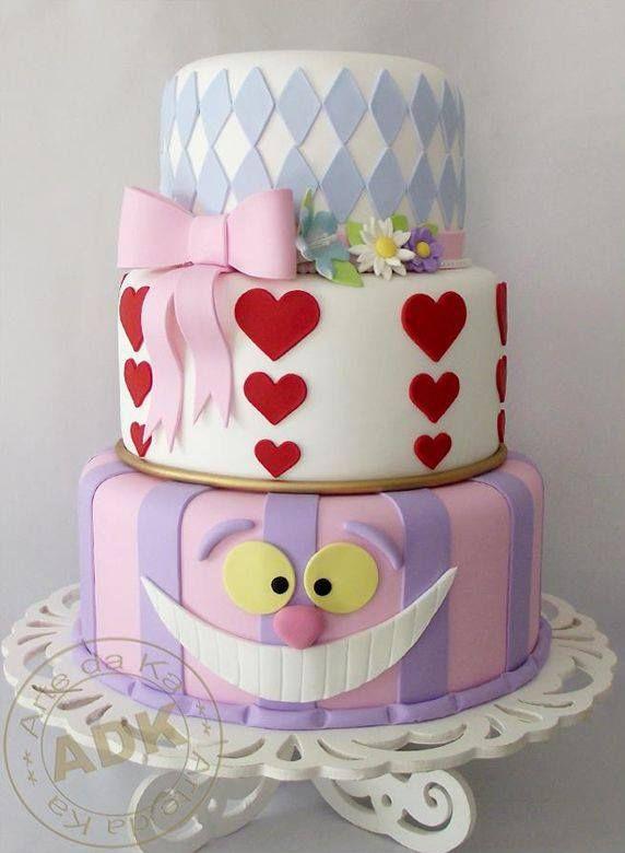 alice in wonderland birthday cake