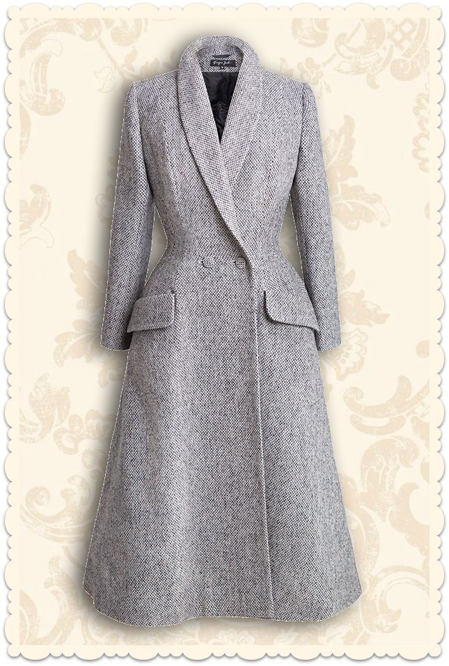 Ginger Jackie by Ekaterina Blinova - Manteau Couture vintage années 50 Carolina laine gris chiné - missretrochic.com