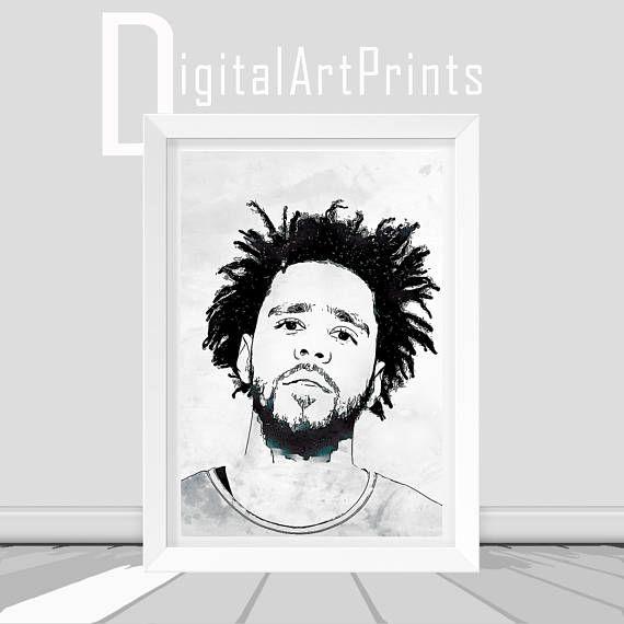 J Cole Poster Print J Cole Print J Cole Printable J Cole