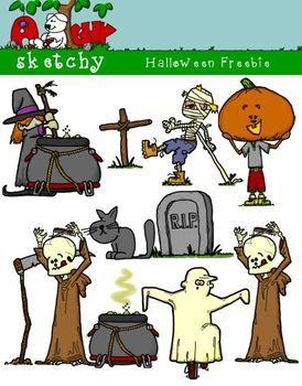 Halloween Themed Clipart / Graphics FREEBIE
