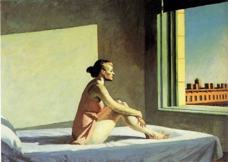 Morning Sun by Edward Hopper  I did a remake of this painting in my color theory class when I was in college. I've grown rather attached to it since