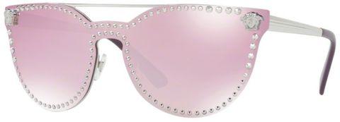 Versace VE 2177 10007V 45 mm Round CatEye light blue pink mirror white