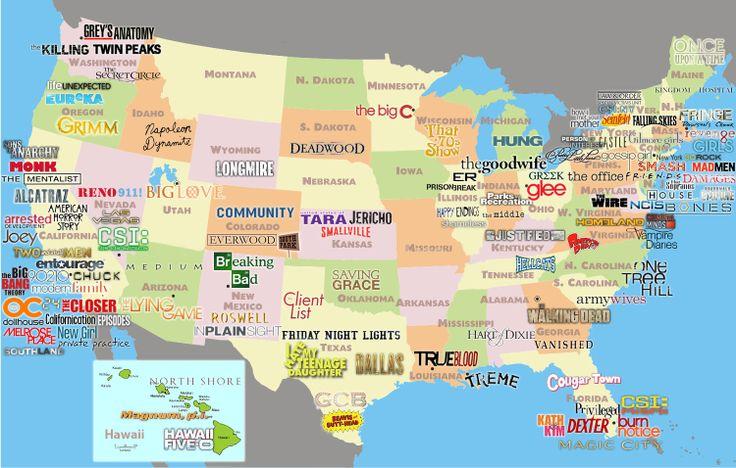 Mapa político EEUU series - La Parabólica