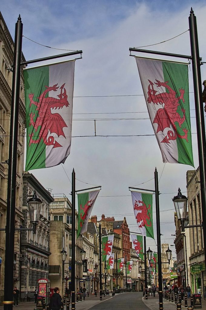 St Mary Street, Cardiff http://lovewales.tumblr.com/image/76753609293