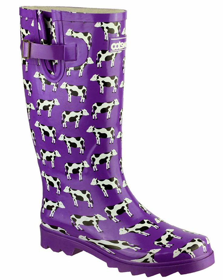Cotswold Freesian Ladies Patterned Wellington - Robin Elt Shoes #Festival #Wellies #FestivalWellies #Wellington #WellingtonBoot #UK #Cows