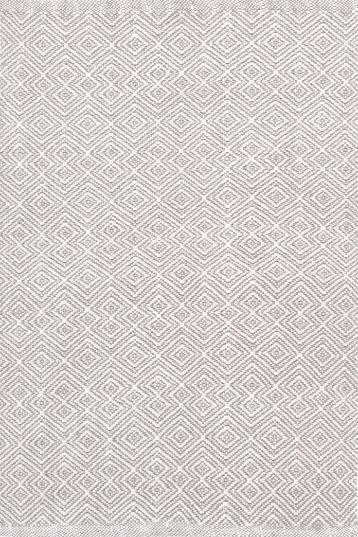 Dash & Albert | Annabelle Grey Indoor/Outdoor Rug | This clever take on a classic diamond pattern—in a durable, washable indoor/outdoor jacquard weave made of recycled materials—is an instant style star. Due to the handmade nature, variations in color are expected.