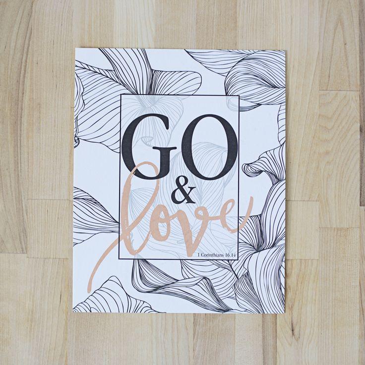 ENCOURAGEMENT ART | 8 x 10 | Go! Collection | 1 Corinthians 16:14