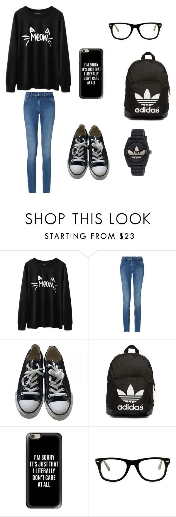 """BFFs outfits for school: @annabeth999"" by holly-hills ❤ liked on Polyvore featuring Calvin Klein, Converse, adidas Originals, Casetify, Muse and adidas"