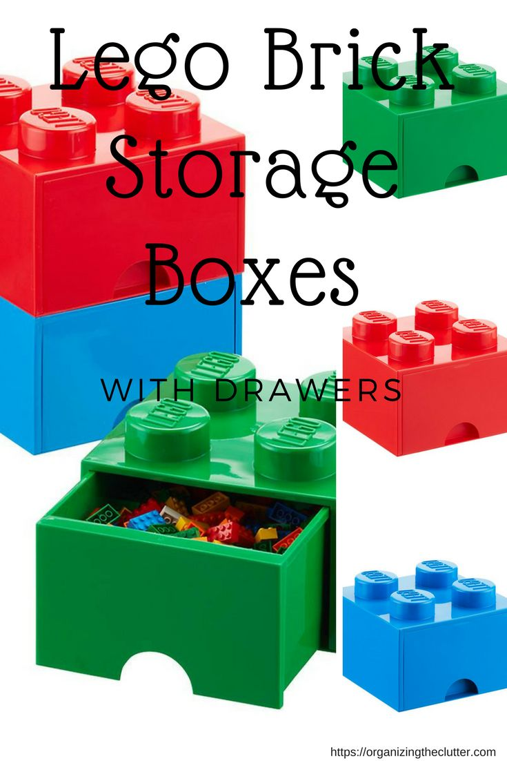 Lego Storage Brick Boxes with drawers are for more than just organizing Legos. They are perfect for arts and craft items, hot wheels, smaller toys, and more. They are stackable and have a fun convenient pull out drawer instead of a lid.
