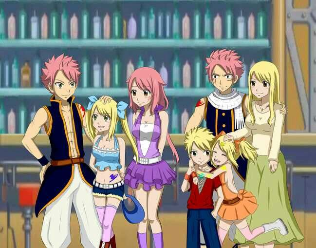 If natsu and Lucy had kids (fairy tale)