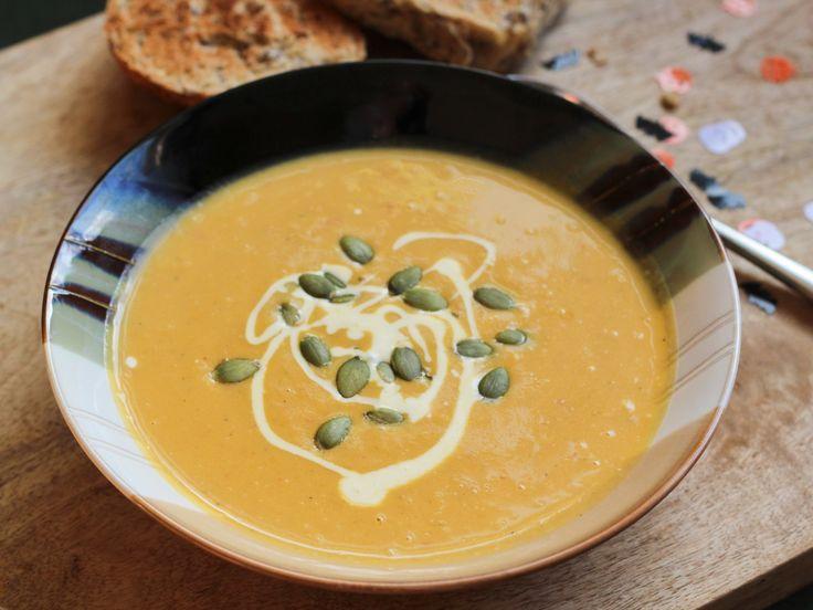 Pumpkin soup recipe. Halloween recipe