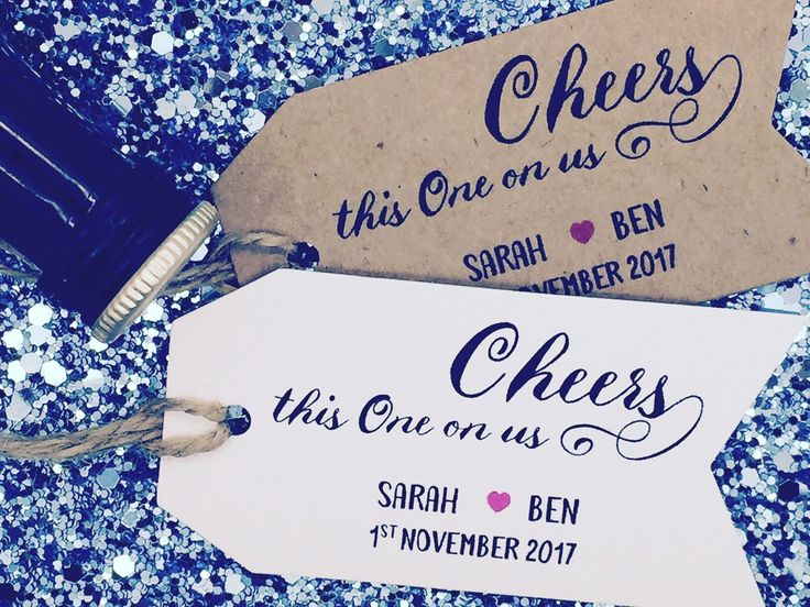Personalised Wedding Party Drinks Tokens Tickets Gift Tags Customised WeddingFavorTags SAVE THE DATE Chalkboard Invite