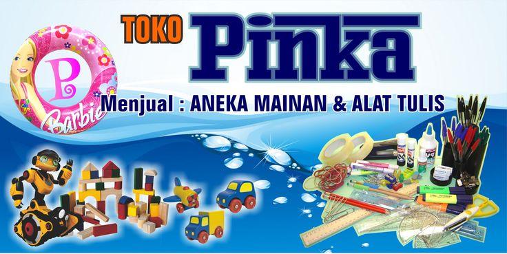 Spanduk Design+Cetak Toko Pinka  Aneka mainan anak-anak dan Alat Tulis