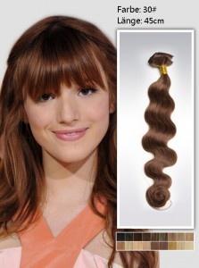 kastanienbraune haare Haarverdichtung Echthaar Clip in Extensions 100g 45cm braune Haarverdichtung Clip in Extensions wellig dew3018, 81 €
