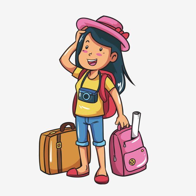 Dibujos Animados Pintado A Mano Viajes Maleta Nina Viajando Viaje De Verano Pequena Nina Bonita Png Y Vector Para Descargar Gratis Pngtree Dibujos Animados Viajes De Verano Maletas Dibujo