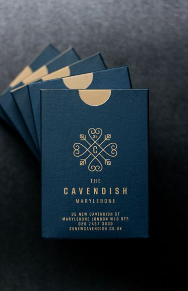 Playing cards for The Cavendish / by Spinach Design (http://spinachdesign.com/restaurant-brand-identity-cavendish/).