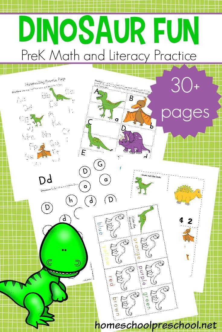 Dinosaur Printable Activities Homeschool Preschool Blog
