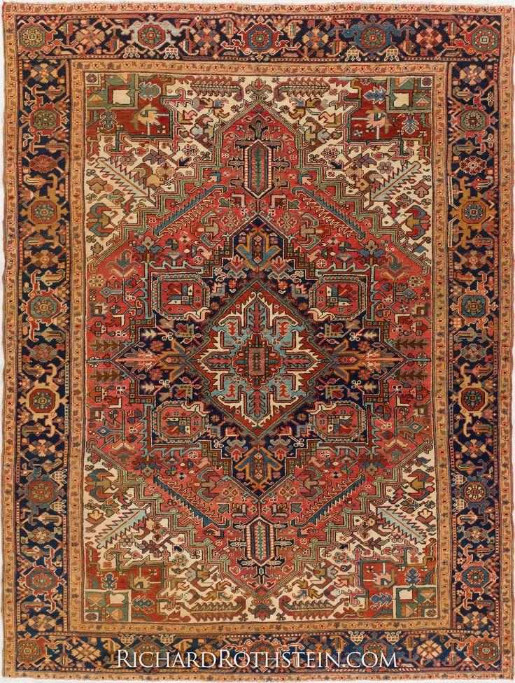 Persian Rugs From Iran Heriz Oriental Rug C0042t4802