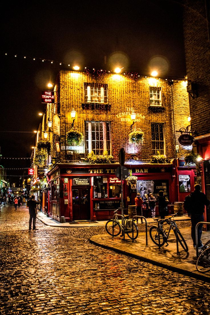 Temple Bar, Dublin, Ireland…. Bj and I ate here twice on our honeymoon! It had live Irish music and Irish dancers. Lots of fun!!!