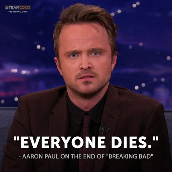explanation he gave when everybody asked him how the finale of breaking bad was going to end....